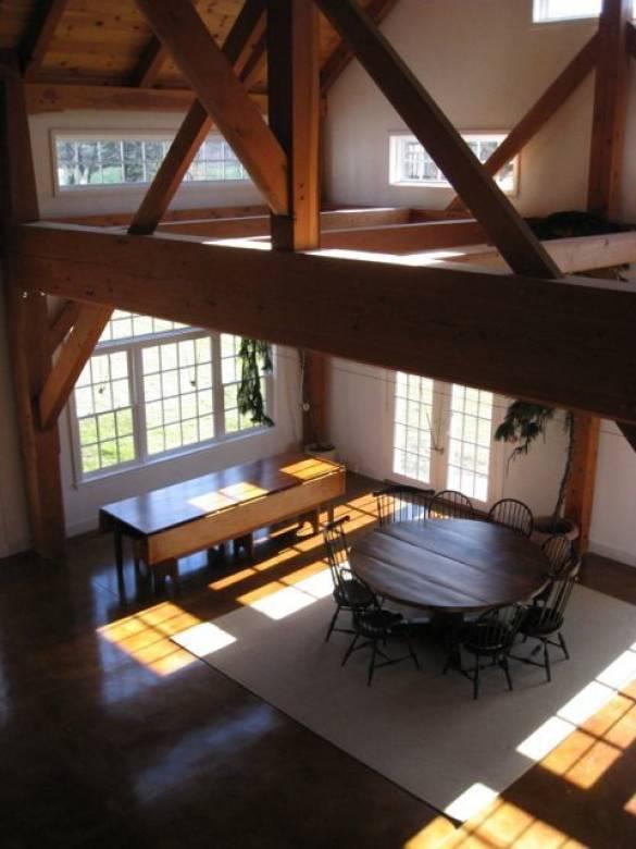 Timber frame detail